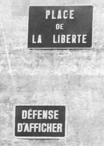 Panneaux en folie... Liberte
